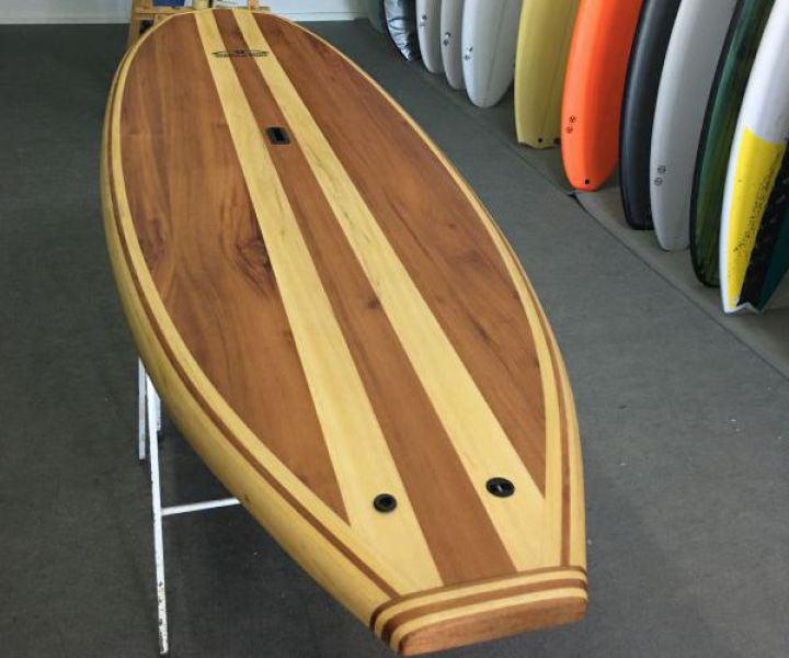 Paddle surf de madera de cedro y samba Dolphin